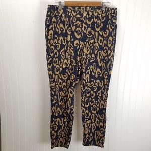 Chico's So Slimming Girlfriend Ankle Leopard Pants